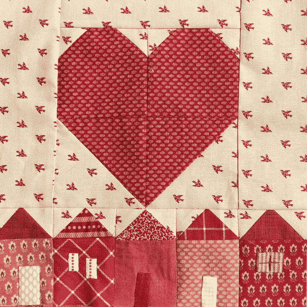 Heart and House solidarity block by Karen Wittmeyer