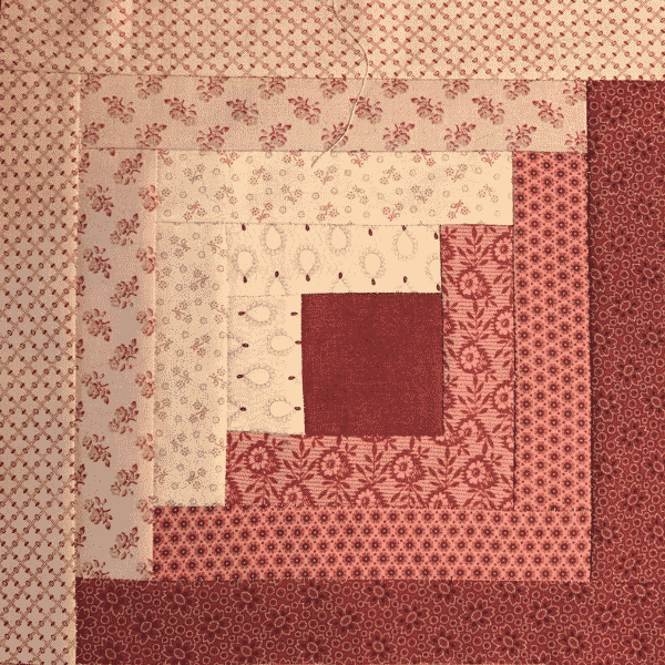Log cabin block by nancee ariagno