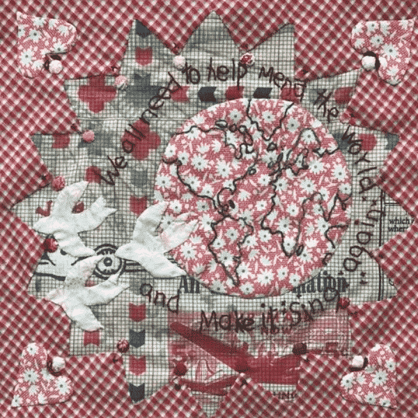 Solidarity Quilt Block designed by Jo Colwill