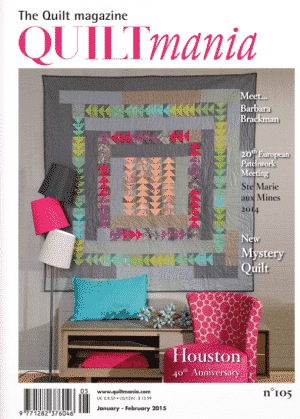 Quiltmania Magazine issue #105 - january february 2015