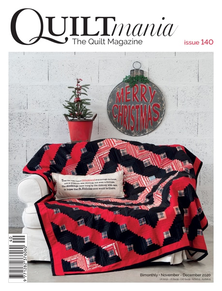 Cover Quiltmania 140 winter 2020 issue